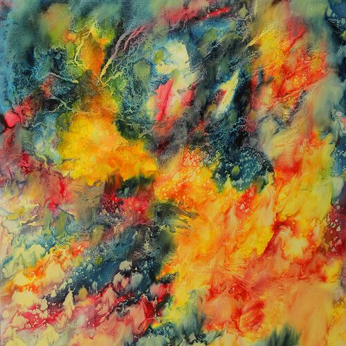 Name: Fire day, oil on canvas, 90cm x 80 cm, Year: 2017, Price:1.200,000,00 EUR
